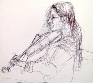 """Armelle Devillez, Zeichnung: """"'Carmen"""""""