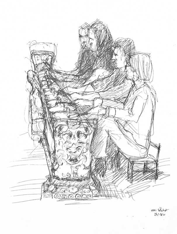 """Armelle Devillez, Zeichnung: """"'Gamelan"""""""