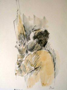 """Armelle Devillez, Zeichnung: """"'Lao Khaen"""""""