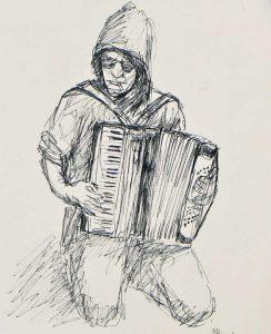 """Armelle Devillez, Zeichnung: """"'Onkel Bernd"""""""