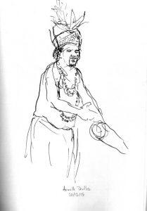"""Armelle Devillez, Zeichnung: """"'Papua 1"""""""