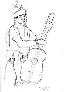 """Armelle Devillez, Zeichnung: """"'Papua 2"""""""