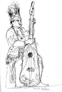 """Armelle Devillez, Zeichnung: """"'Papua 3"""""""