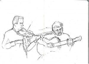 """Armelle Devillez, Zeichnung: """"'Session 1"""""""