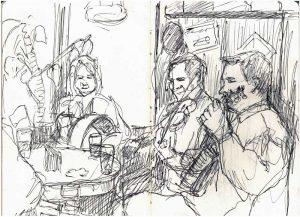 """Armelle Devillez, Zeichnung: """"'Session 2"""""""